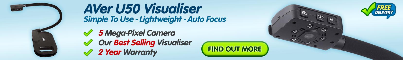AVer U50 Visualiser - Simple to Use, Lightweight, Auto Focus