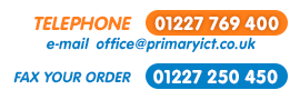 Contact Us: Telephone 01227 769400, Fax us your Purchase Order on 01227 250450 or e-mail us at office@primaryict.co.uk