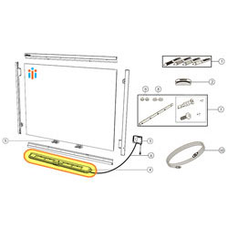 SMART Replacement Pen Tray - for 600 Series SMART Boards - 1028133
