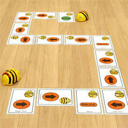 TTS Giant A5 Bee-Bot Sequence Cards - Set of 49 Cards [ITSCARD]