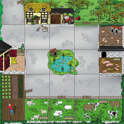 TTS Bee-Bot Mat - Farmyard