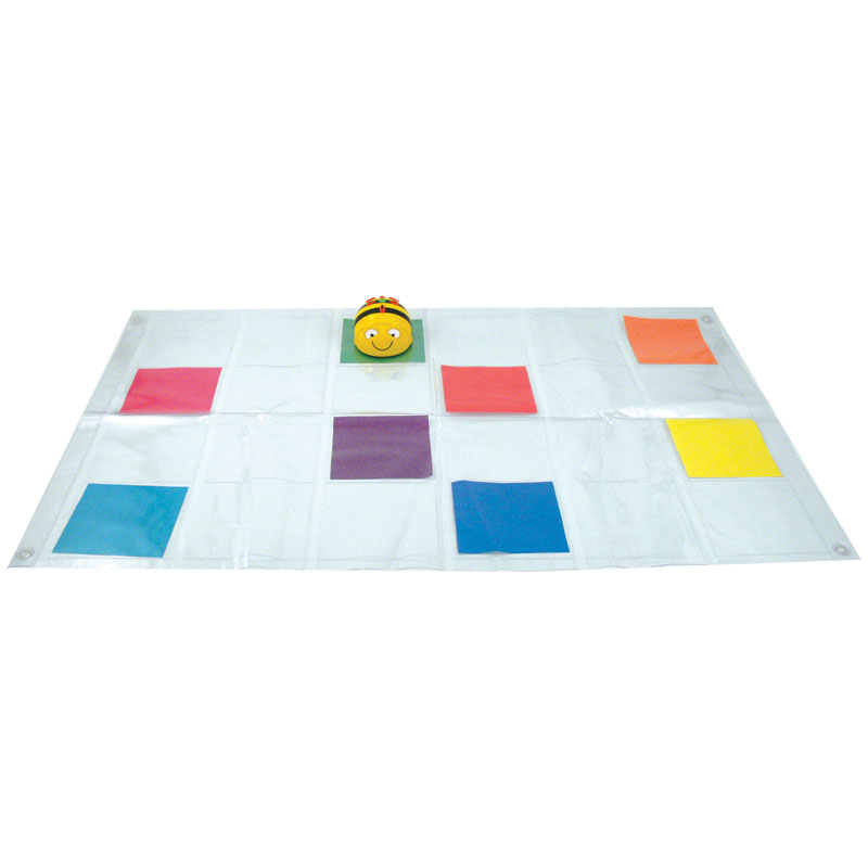 TTS Bee-Bot Mat - Transparent (with Pockets) - IT00090