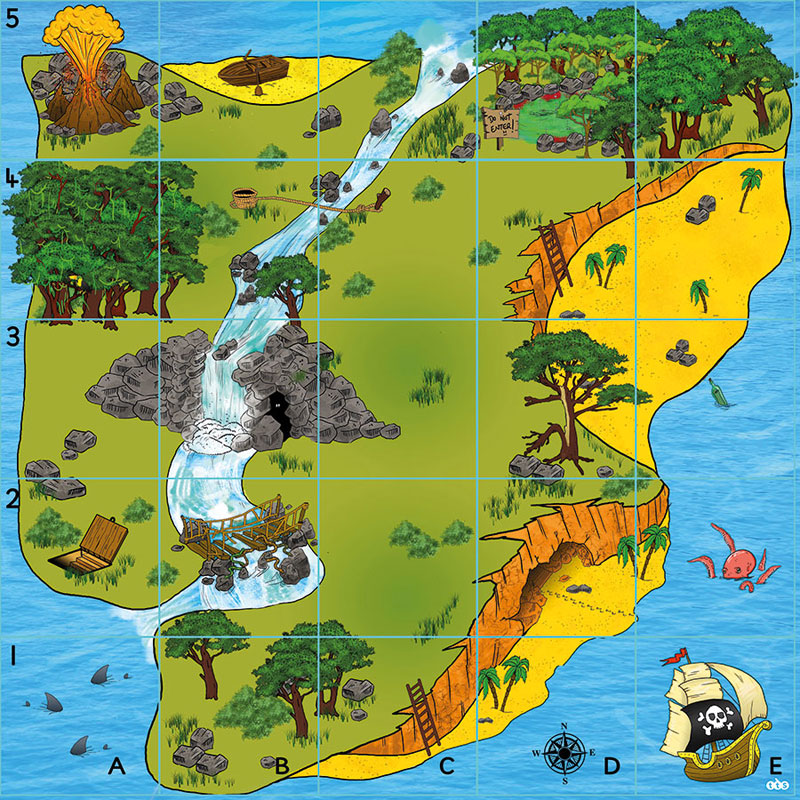 TTS Bee-Bot Mat - Treasure Island - ITSMAT1