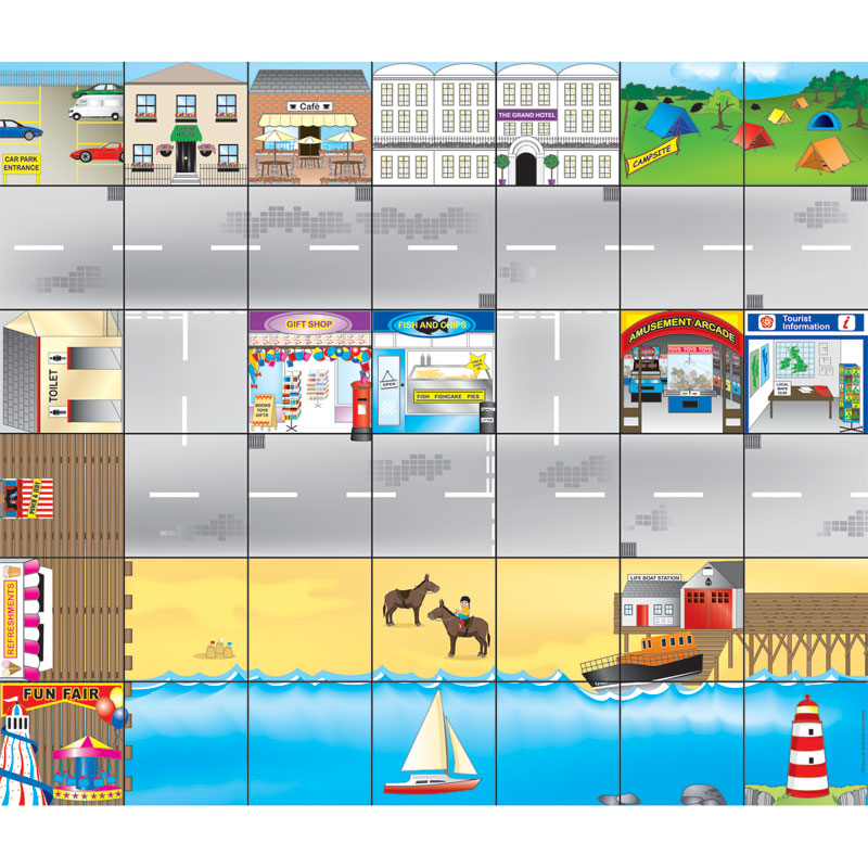 TTS Bee-Bot Mat - Seaside Town - GBBSM