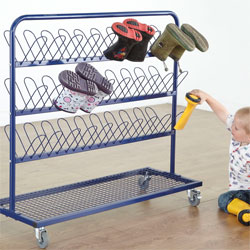 TTS Children's Metal Wellie Rack Stand - Double Sided (30 Pairs of Welly Boots) [FU00843]