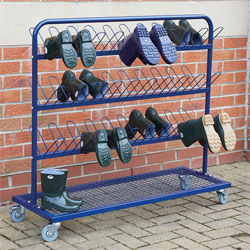 TTS Children's Metal Wellie Rack Stand - Double Sided (30 Pairs of Welly Boots)