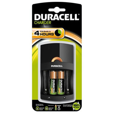 Duracell Value Battery Charger - Includes 2x AA Batteries - DUR-VALUECHARGER