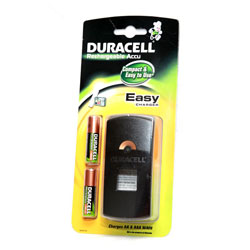 Duracell Easy Battery Charger - Includes 2x AA Batteries