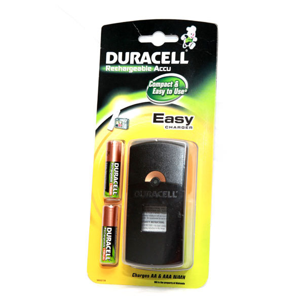 Duracell Easy Battery Charger - Includes 2x AA Batteries - DUR-EASYCHARGER