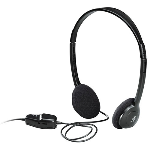 Computer Stereo Headphones 3 5mm Plug With Volume
