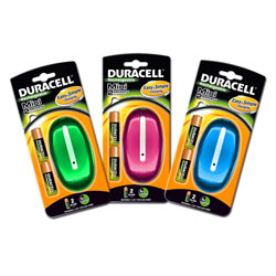 Duracell Mini Colour Battery Charger - Includes 2x AA Batteries