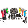 TTS Rainbow Easi-Speak Bundle - 6x Microphones & Docking Station - EL00308
