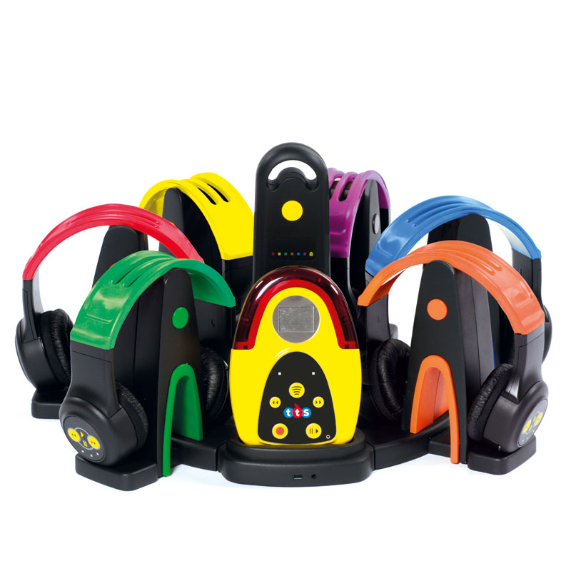 TTS Easi-Ears (Digital Audio System) - includes 6 coloured wireless headphones - EL00295