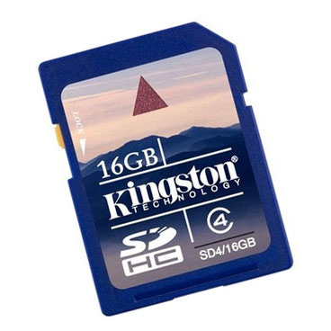 Kingston 16GB Secure Digital (SD) Memory Card - SD4/16GB