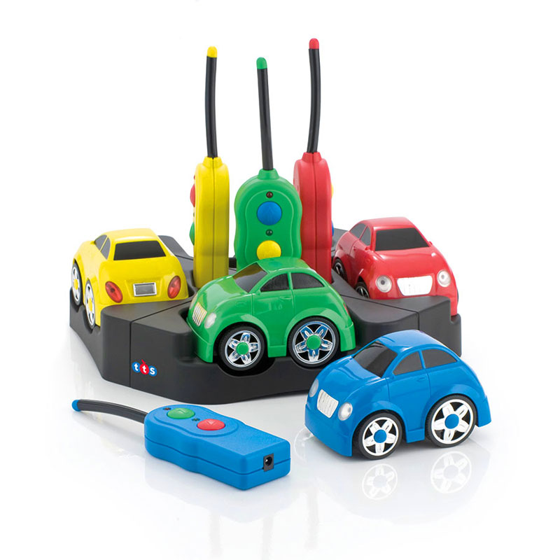 TTS Easi-Cars & Docking Station - Rechargeable Remote Control Cars (Set of 4) - EY04198
