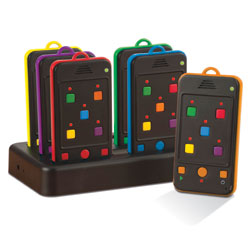 TTS Rainbow Rechargeable Mobile Phone Walkie Talkie Set (Set of 6)