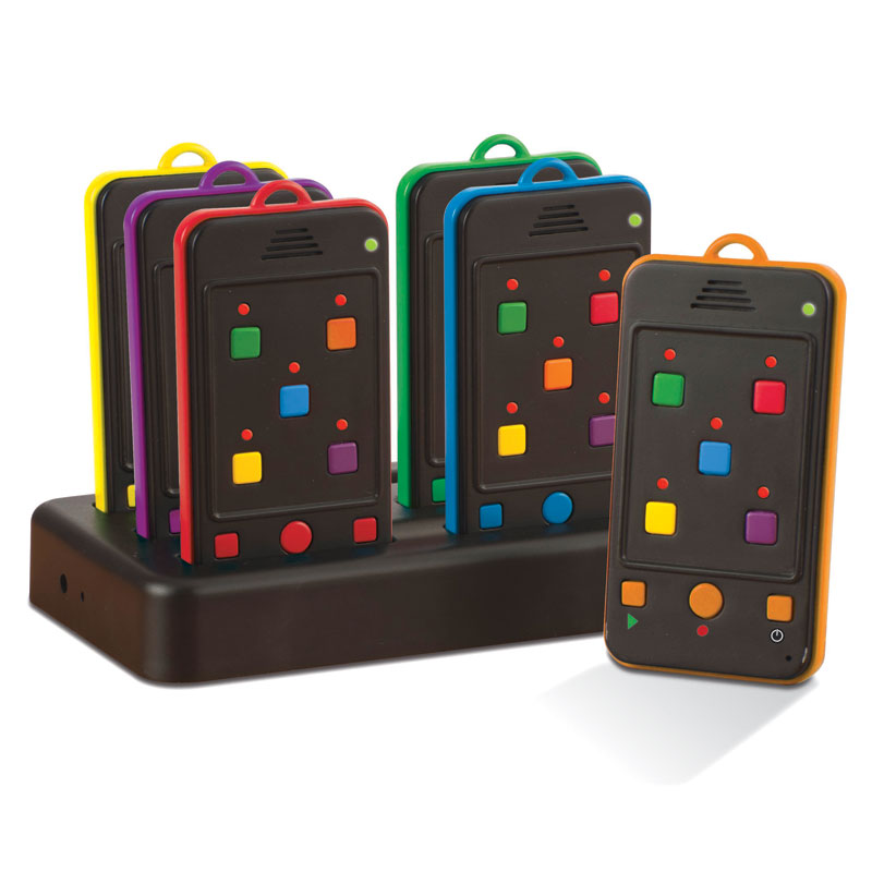 TTS Rainbow Rechargeable Mobile Phone Walkie Talkie Set (Set of 6) - EY04195