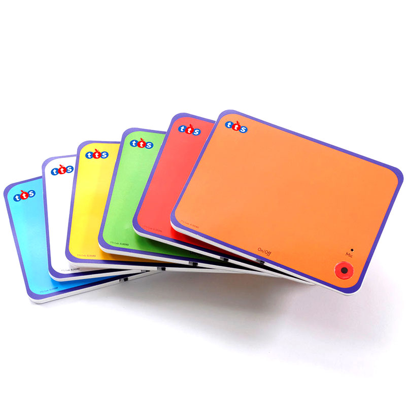 TTS Rainbow Talk Time A6 Postcards - 10 Seconds Recording Time (Pack of 6) - EL00283