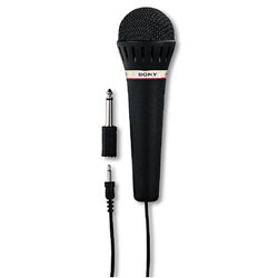 Sony F-V120 Hand Held Microphone - with 3.5mm and 6.3mm Adaptors [F-V120]