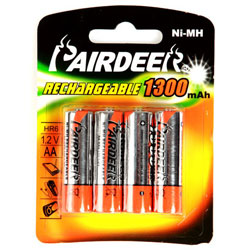 Value Rechargeable AA Batteries 1300mAh (Pack of 4)
