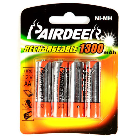 Value Rechargeable AA Batteries 1300mAh (Pack of 4) - VALUEBATT4