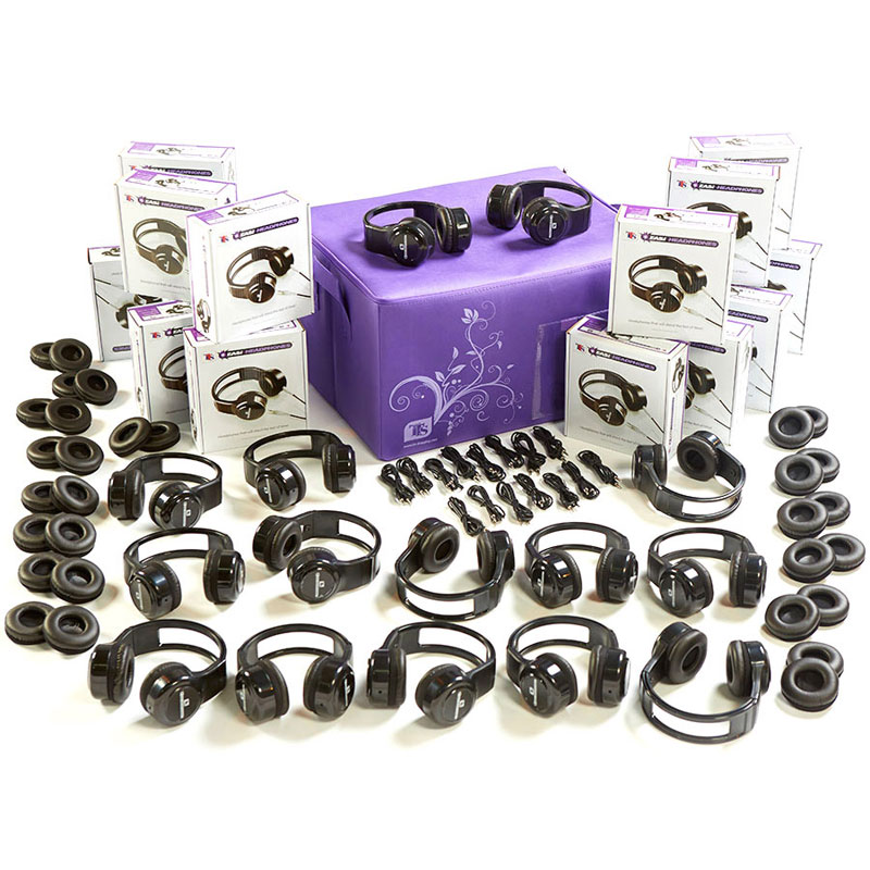 TTS Robust Easi-Headphones Bundle - includes 15 Sets & Spares - EL00435