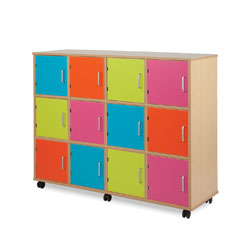 Bubblegum Easy-Access Lockers (Non-Lockable)