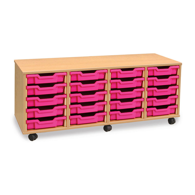 20 Shallow Tray Storage Unit - MEQ20W