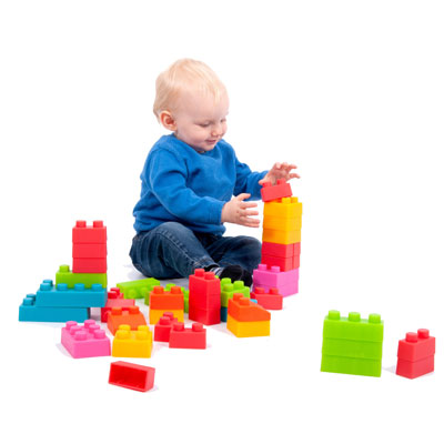 TickiT Chunky Soft Brick Set - Set of 45 Bricks - CD74050