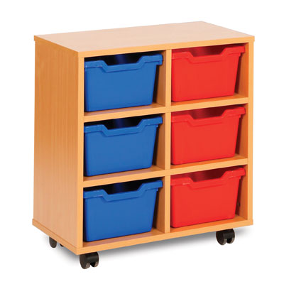 6 Cubby Tray Storage Unit - MEQ8006