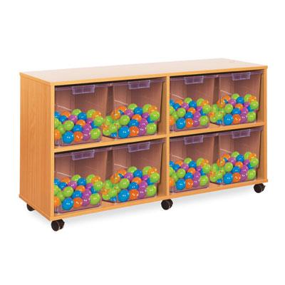 8 Jumbo Tray Storage Unit - with Clear Jumbo Trays - CE2115MCL