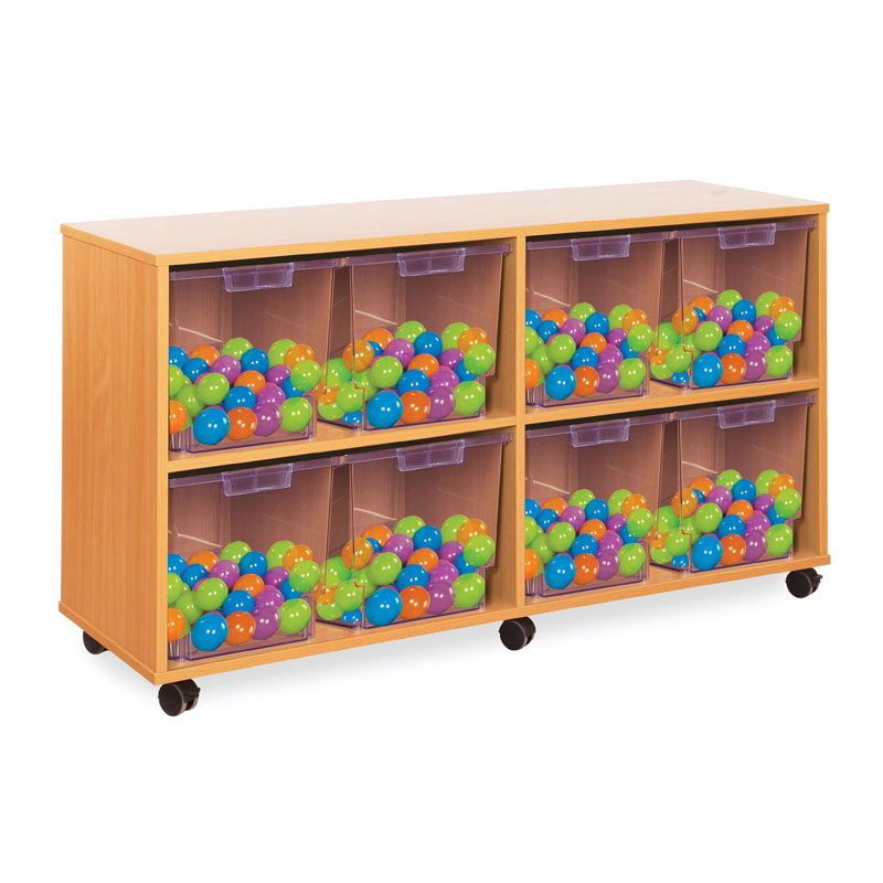 8 Jumbo Tray Storage Unit - with Clear Jumbo Trays - CE2115MCL