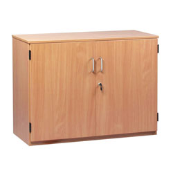 School Storage Cupboard: Height 750mm - with Lockable Doors
