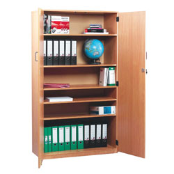 School Storage Cupboard: Height 1800mm - with Lockable Doors