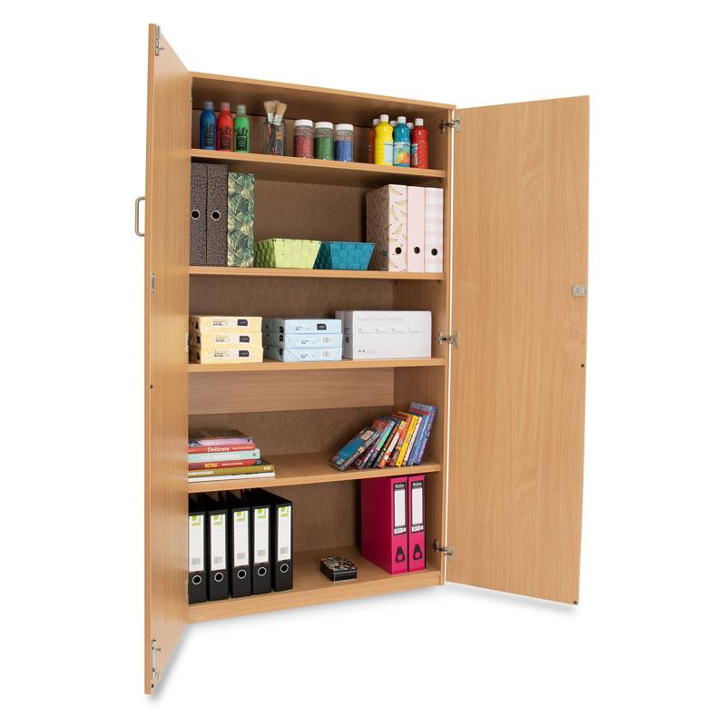 School Storage Cupboard: Height 1800mm - with Lockable Doors - MEQ1800C