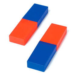 Plastic 80mm Cased Bar Magnets (Pack of 2)