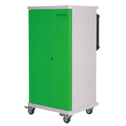 CompuCharge TabCharge 15 Charging Trolley - for 15 Units in Green - TABCHARGE-15/GREEN