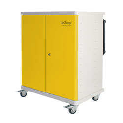 CompuCharge TabCharge 24 Charging Trolley - for 24 Units in Yellow - TABCHARGE-24/YELLOW