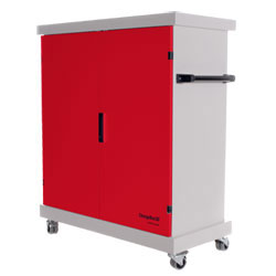 CompuCharge ChargeBox 30 Charging Trolley - for 30 Units in Red [CHARGEBOX-30/RED , CHARGEBOX-30]
