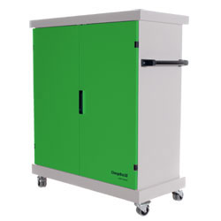 CompuCharge ChargeBox 30 Charging Trolley - for 30 Units in Green - CHARGEBOX-30/GREEN