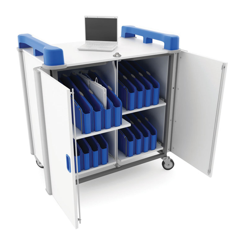 LapCabbymini 32 Bay Netbook Charging Trolley (Vertical Storage) - LAPM32V