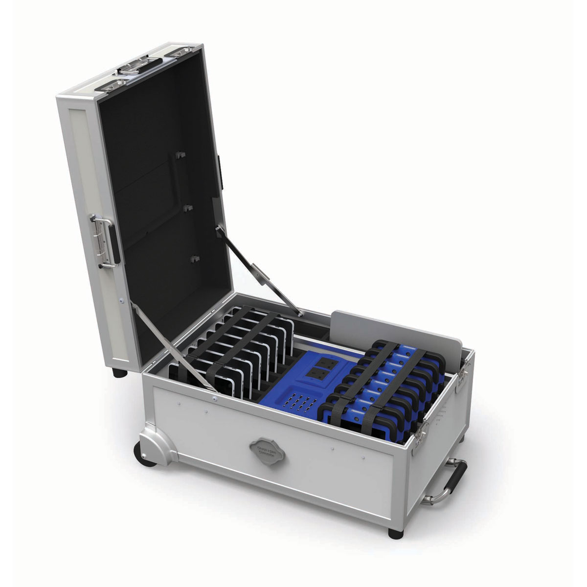 Buy gocabby 16 bay tablet trolley charge sync for Storage bay