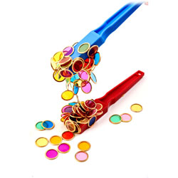 Magnetic Wand and Metal Rim Disc Set - includes 2 Wands and 100 Coloured Discs [CD50012]