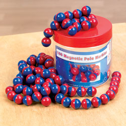 Magnetic Pole Marbles Tub - Set of 100