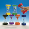 Set of 3 TickiT Large Sand Timers - 1, 3 and 5 minutes - CD92045