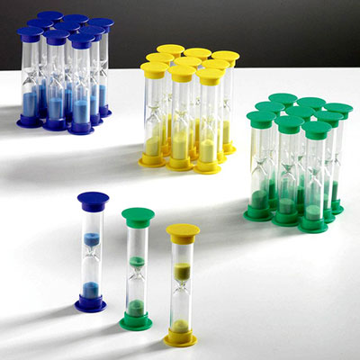 Set of 30 Mixed Mini Sand Timers - 1, 3 & 5 Minute - CD92005