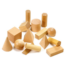 Wooden Geometric Solids - Set of 15