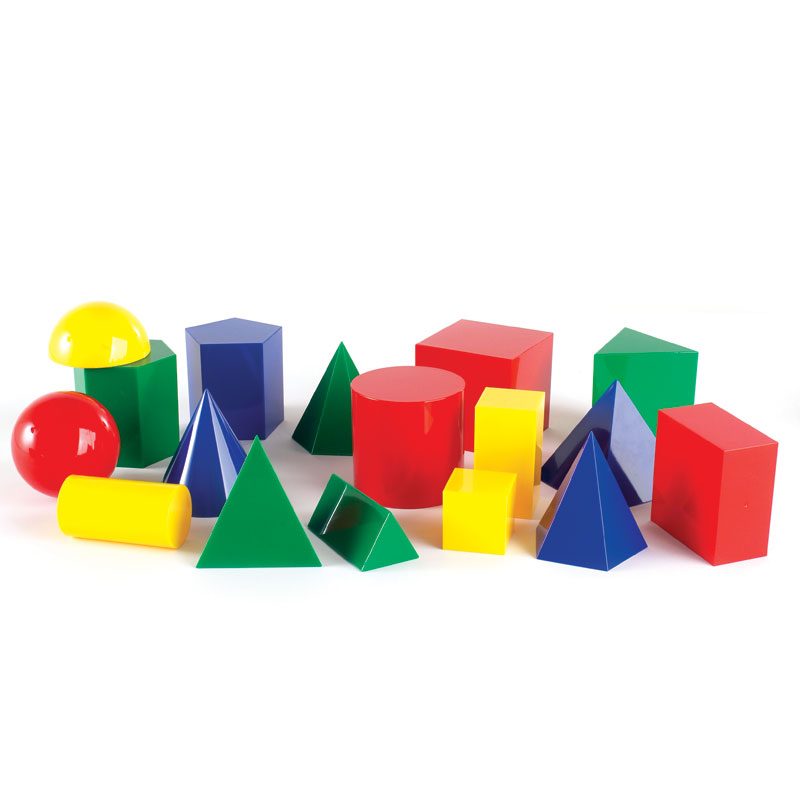 Large Geometric Shapes - Set of 17 - by Learning Resources - CD52129
