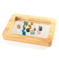 Wood Effect Softie Mirror Tray [CD72436]