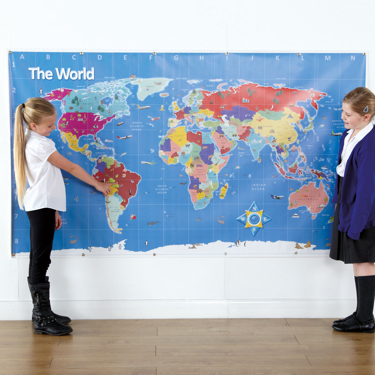Tts bee bot mat world map ge00466 buy at primary ict for tts bee bot mat world map ge00466 gumiabroncs Choice Image